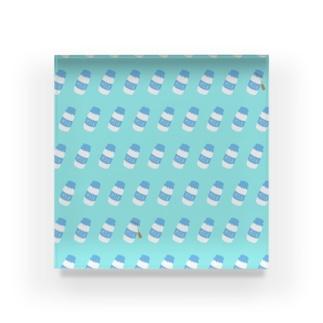 牛乳瓶総柄 Acrylic Block