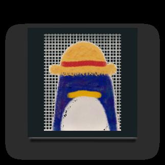 おてて商店の帽子屋シリーズ ペンギンの麦わら帽子 Acrylic Block