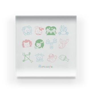 ema-emama『12星座 Horoscope』 Acrylic Block