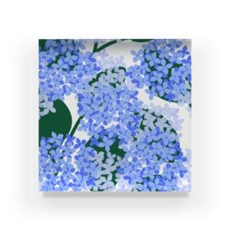 hydrangea Acrylic Block