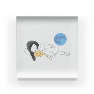 すいまとおやすみ Acrylic Block