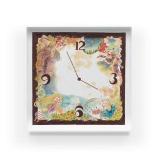 さくらもち:一年時計 Acrylic Block