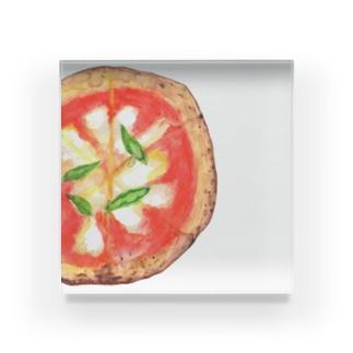 Pizza マルゲリータ Acrylic Block