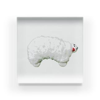 白いひつじ Acrylic Block