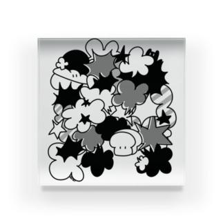 マンガ風食パンちゃん Acrylic Block