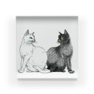 白猫と黒猫 Acrylic Block