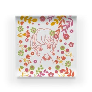 乙女の花占い Acrylic Block