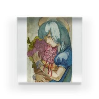 くうきと花束 Acrylic Block