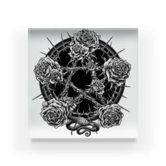 BLACKINK のPENTAGRAM - WHITE Acrylic Block