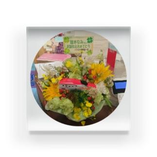 バースデー置き花 Acrylic Block