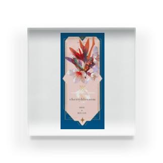 フラワーオラクルカード 桜 Acrylic Block