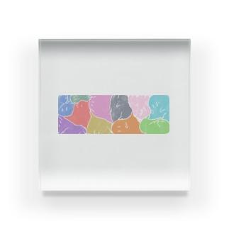 牛乳ビンのマモノ(色) Acrylic Block