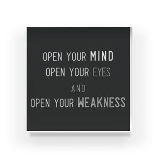 OPEN (黒背景) Acrylic Block