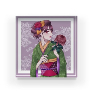 kimono girl Acrylic Block