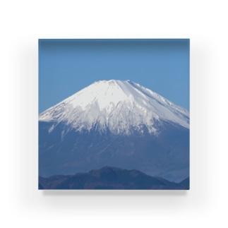 富士山 Acrylic Block