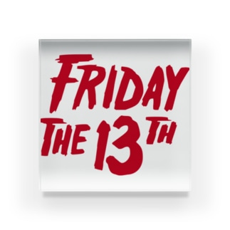 FRIDAY THE 13TH Acrylic Block