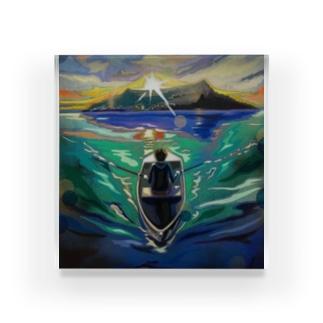 boat by Kota Hirakawa Acrylic Block