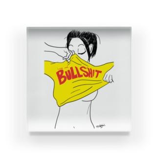 Love and Bullshit Acrylic Block