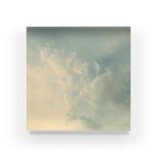 淡い空〜現実 Acrylic Block