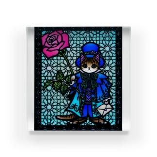 きりえCATSシリーズ(バラの使者) Acrylic Block