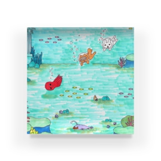 海ですちゃ‼ Acrylic Block