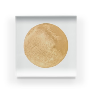 輝く満月 Acrylic Block