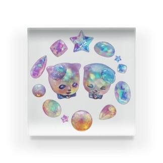 オパールの国の宝石猫 Acrylic Block
