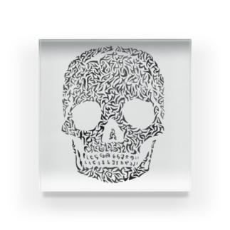 骸骨描いてみました Acrylic Block