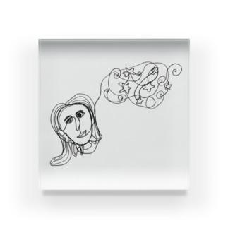 LEMOLEMONのゆめみごごち Acrylic Block