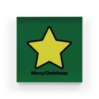クリスマスオーナメント トップスター Acrylic Block