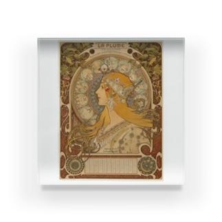 Alphonse Mucha Zodiaque Acrylic Block