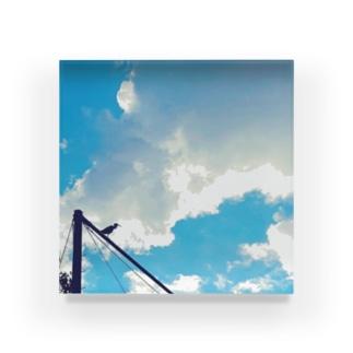 空と鳥 Acrylic Block