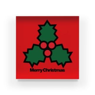 クリスマスオーナメント ヒイラギ Acrylic Block