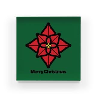 NICE ONEのクリスマスオーナメント ポインセチア Acrylic Block