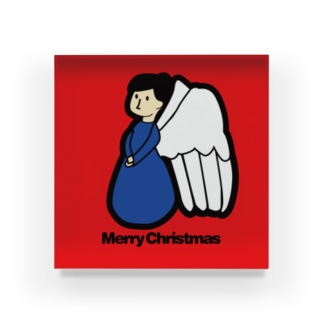 NICE ONEのクリスマスオーナメント 天使 Acrylic Block