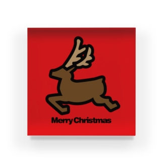 クリスマスオーナメント トナカイ Acrylic Block