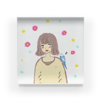 幸せの青い鳥♡ Acrylic Block