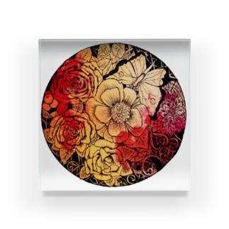 Magical flower Acrylic Block