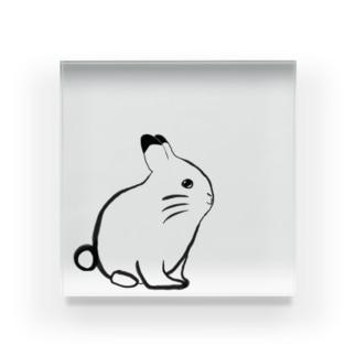 筆描きウサギちゃんシリーズ Acrylic Block
