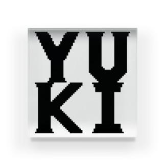 ドットロゴ YUKI Acrylic Block