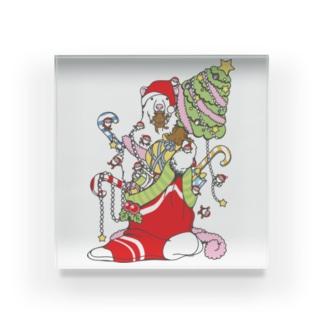 クリスマスだ!シロクマだ! (メニー?クリスマス) Acrylic Block