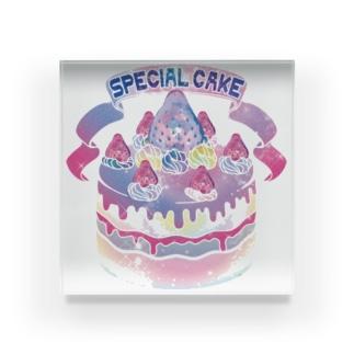 宇宙(そら)いちごのスペシャルケーキ アクリルブロック