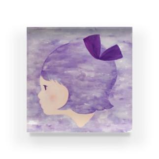 むらさきリボンちゃん Acrylic Block