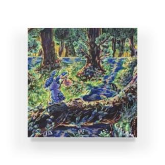 森の青うさぎ Acrylic Block