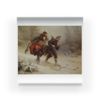 Knud Bergslien《Skiing Birchlegs 王子と山を渡る》 Acrylic Block
