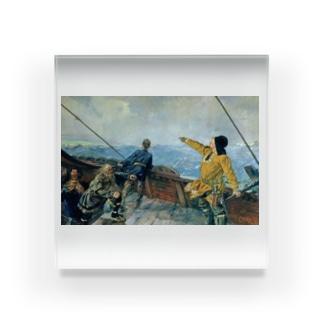 クリスチャン・クローグ《アメリカを発見したレイフ・エリクソン》 Acrylic Block