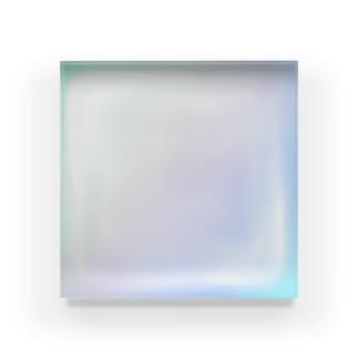 Icecube melt🧊 rainbow Acrylic Block