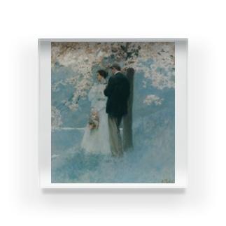 ハワード・パイル 《春・桜の木の下で》 Acrylic Block