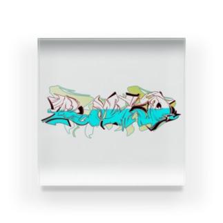 GRAFFITI LOGO② Acrylic Block