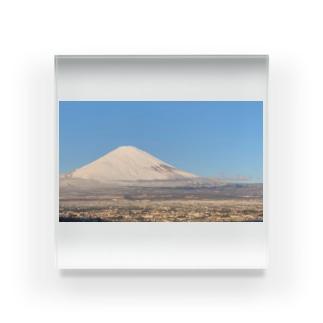 龍雲 と影で双龍の奇跡の写真《霊峰富士 &龍雲》 Acrylic Block